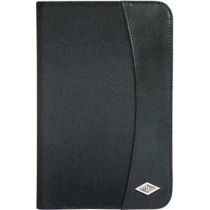 WEDO Schreibmappe Elegance, A5, Kunstleder/Nylon, schwarz