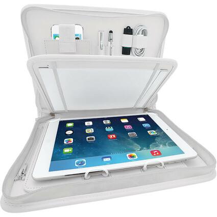 WEDO Universal-Tablet-PC Organizer Amiga, Kunstleder, weiß
