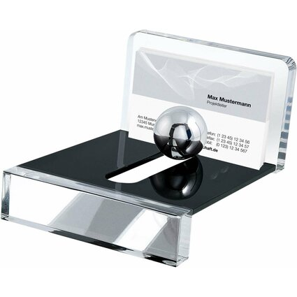 "WEDO Visitenkartenhalter mit Stahlkugel ""acryl exklusiv"""