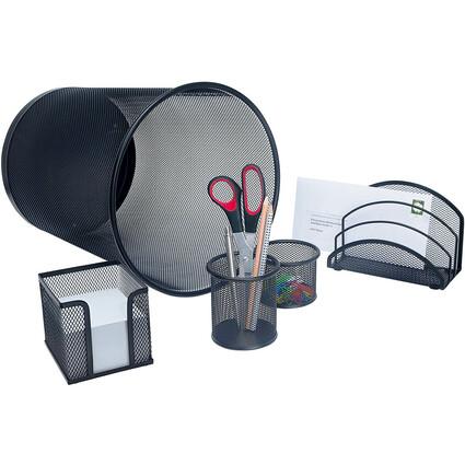 WEDO Schreibtisch-Set Office, aus Drahtmetall, schwarz