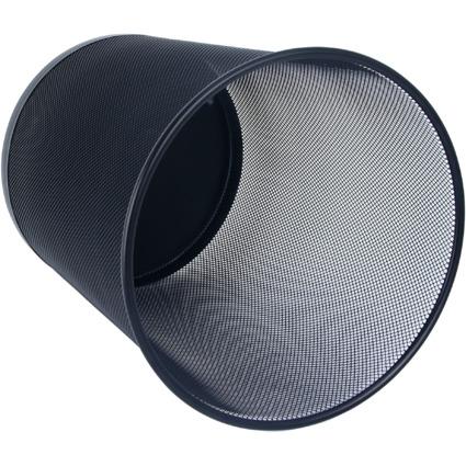 WEDO Papierkorb Office, aus Drahtmetall, 18 Liter, schwarz