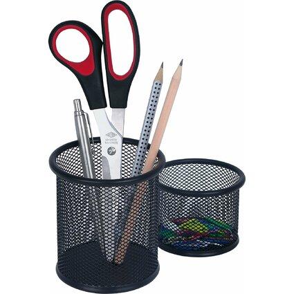WEDO Stifteköcher-Set Office, aus Drahtmetall, schwarz