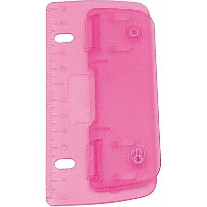 WEDO Taschenlocher, Stanzleistung: 3 Blatt, ICE pink