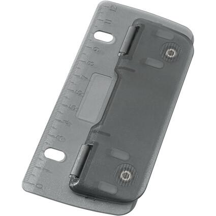 WEDO Taschenlocher, Stanzleistung: 3 Blatt, ICE grau