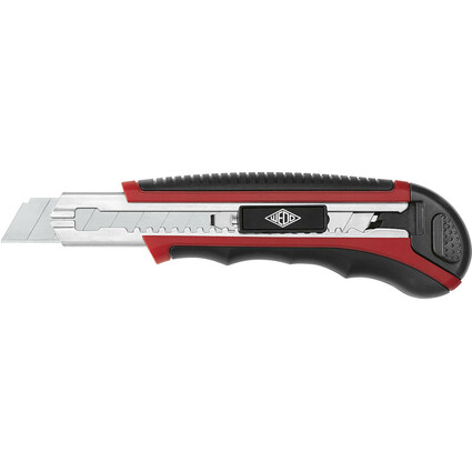 WEDO Profi-Cutter Auto-Load, Klinge: 18 mm, schwarz/rot