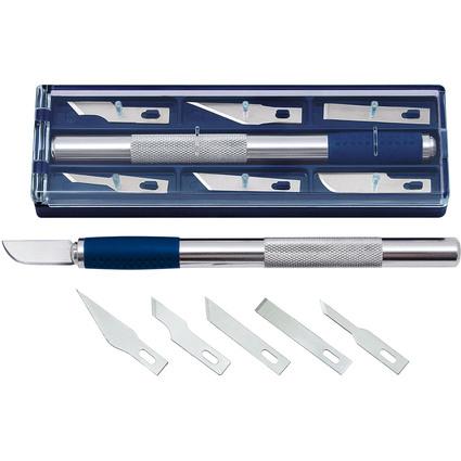 WEDO Hobbymesser, Länge: 150 mm, inkl. 6 Ersatzklingen