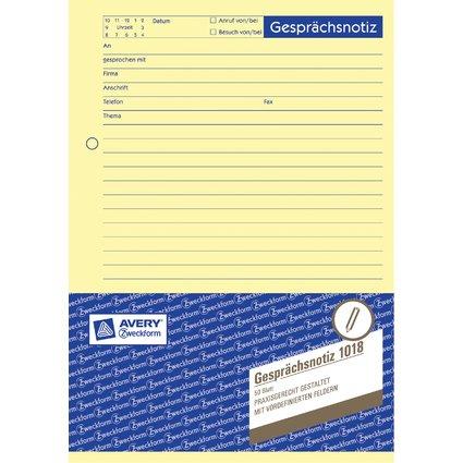 "AVERY Zweckform Formularbuch ""Gesprächsnotiz"", A5, 50 Blatt"