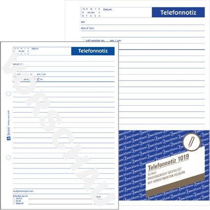 "AVERY Zweckform Formularbuch ""Telefonnotiz"", A5, 50 Blatt"