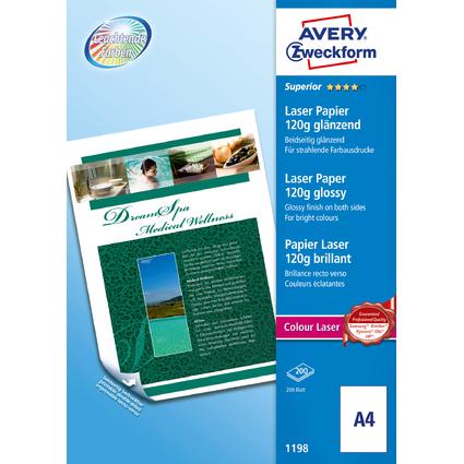 AVERY Zweckform Colour Laser Foto-Papier, A4, 120 g/qm