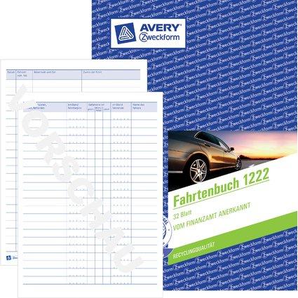"AVERY Zweckform Formularbuch ""Fahrtenbuch"", A5, 32 Blatt"
