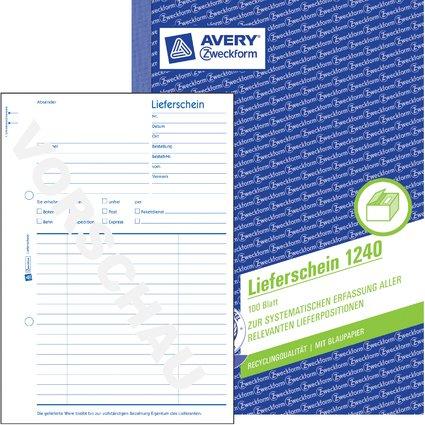 """AVERY Zweckform Formularbuch """"Lieferschein"""", RC, A5"""