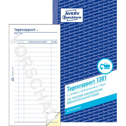 "AVERY Zweckform Formularbuch ""Tagesrapport"", 2 x 50 Blatt"