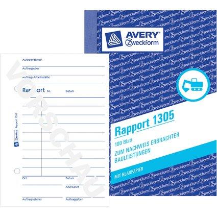"AVERY Zweckform Formularbuch ""Rapport"", A6, 100 Blatt"