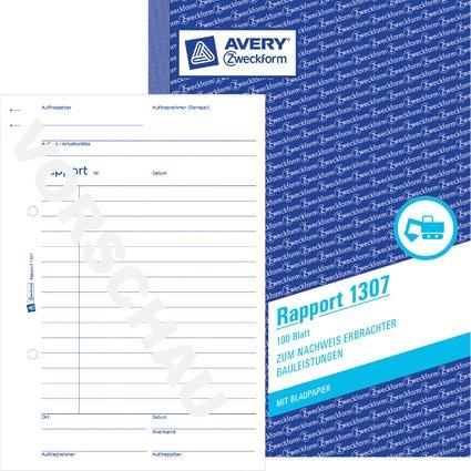 "AVERY Zweckform Formularbuch ""Rapport"", A5, 100 Blatt"