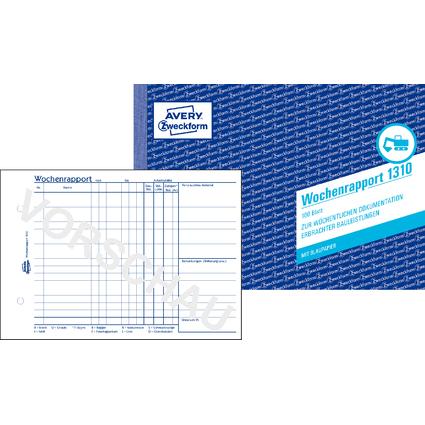 "AVERY Zweckform Formularbuch ""Wochenrapport"", A5 quer"