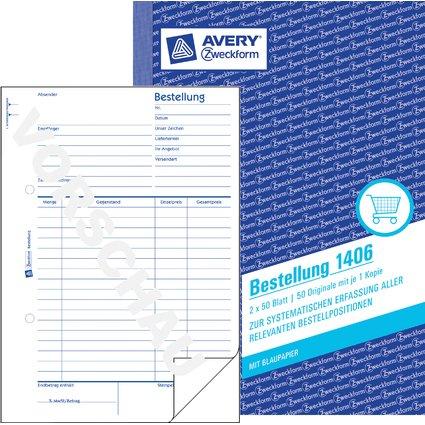 """AVERY Zweckform Formularbuch """"Bestellung"""", A5, 2 x 50 Blatt"""