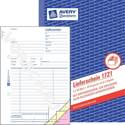 """AVERY Zweckform Formularbuch """"Liefer-/Empfangsschein"""", SD"""