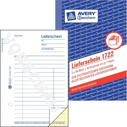 """AVERY Zweckform Formularbuch """"Lieferschein"""", SD, A6"""
