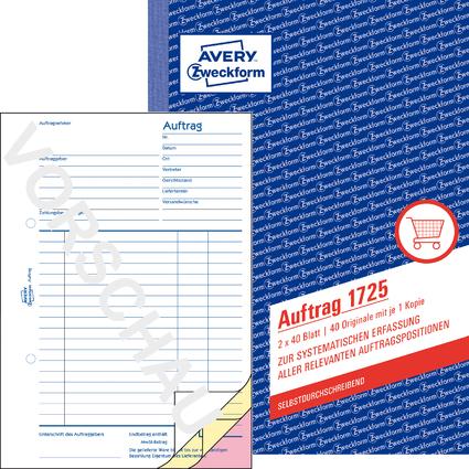 """AVERY Zweckform Formularbuch """"Auftrag"""", SD, A5, 2 x 40 Blatt"""