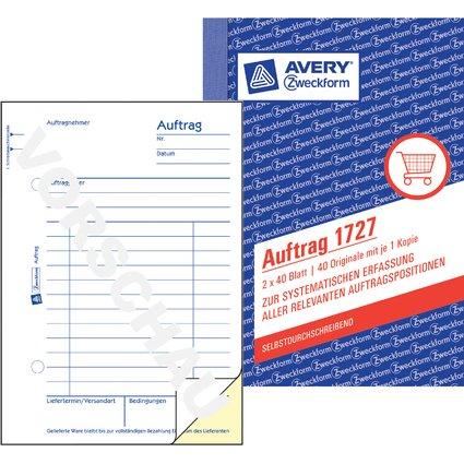 """AVERY Zweckform Formularbuch """"Auftrag"""", SD, A6, 2 x 40 Blatt"""