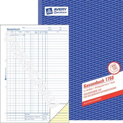 """AVERY Zweckform Formularbuch """"Kassenbuch"""", SD, A4"""