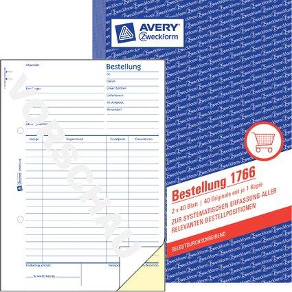 "AVERY Zweckform Formularbuch ""Bestellung"", SD, A5"