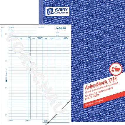 "AVERY Zweckform Formularbuch ""Aufmaß"", SD, A4, 50 Blatt"