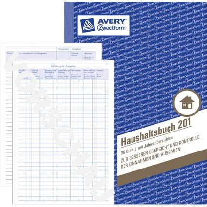 "AVERY Zweckform Formularbuch ""Haushaltsbuch"", A5, 36 Blatt"
