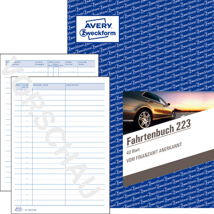 "AVERY Zweckform Formularbuch ""Fahrtenbuch"", A5, 40 Blatt"