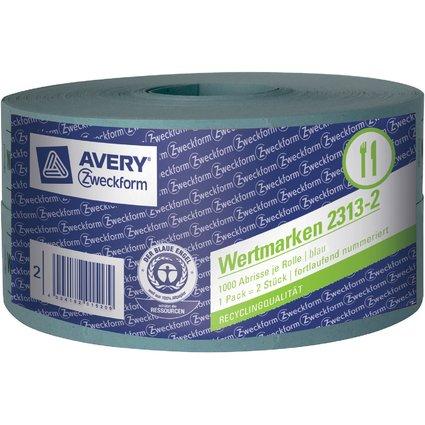 AVERY Zweckform Bon-Rollen Wertmarken, 57 x 30 mm, blau