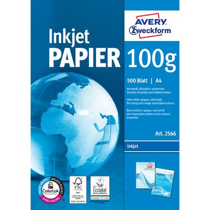 AVERY Zweckform Inkjet-Papier, DIN A4, 100 g/qm, hochweiß