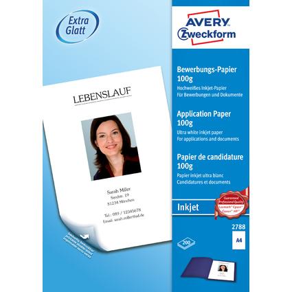 AVERY Zweckform Inkjet-Bewerbungspapier, DIN A4, 100 g/qm
