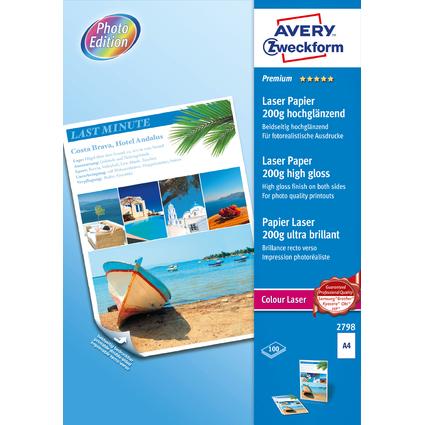 AVERY Zweckform Premium Colour Laser Foto-Papier, 200 g/qm