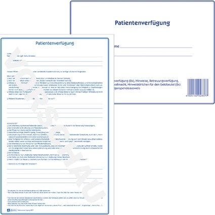 """AVERY Zweckform Vordruck """"Patientenverfügung"""", 220 x 163 mm"""