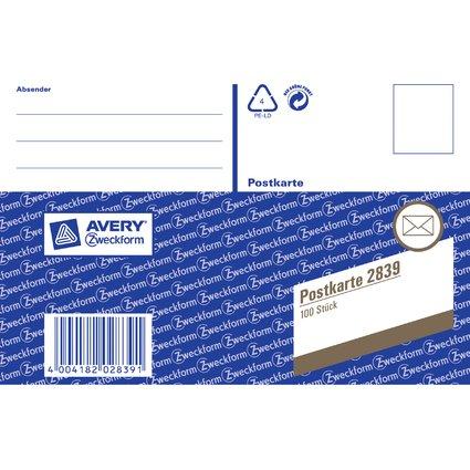 """AVERY Zweckform Vordruck """"Postkarten"""", lose, A6 quer"""