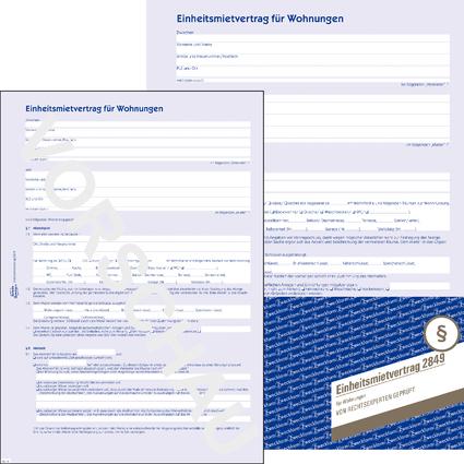"""AVERY Zweckform Vordruck """"Einheitsmietvertrag"""" 4-seitig, A4,"""
