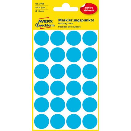 AVERY Zweckform Markierungspunkte, Durchmesser 18 mm, blau