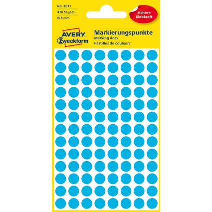 AVERY Zweckform Markierungspunkte, Durchm. 8 mm, blau