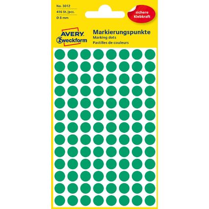 AVERY Zweckform Markierungspunkte, Durchm. 8 mm, grün