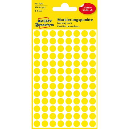 AVERY Zweckform Markierungspunkte, Durchm. 8 mm, gelb
