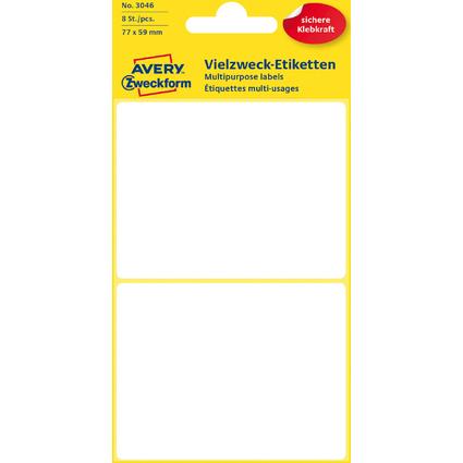 AVERY Zweckform Vielzweck-Etiketten, 77 x 59 mm, weiß, KP