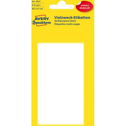 AVERY Zweckform Vielzweck-Etiketten, 98 x 51 mm, weiß, KP