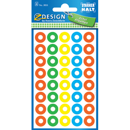 AVERY Zweckform Z-Design Lochverstärkungsringe, farbig