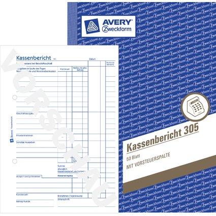 """AVERY Zweckform Formularbuch """"Kassenbericht"""", A5, 50 Blatt"""