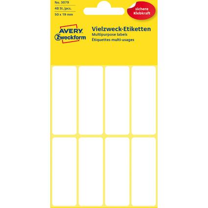 AVERY Zweckform Vielzweck-Etiketten, 50 x 19 mm, weiß, KP