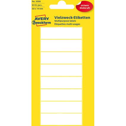 AVERY Zweckform Vielzweck-Etiketten, 50 x 14 mm, weiß, KP