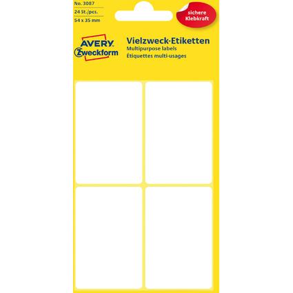 AVERY Zweckform Vielzweck-Etiketten, 54 x 35 mm, weiß, KP