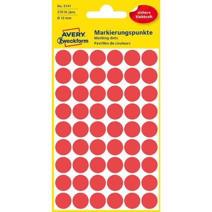 AVERY Zweckform Markierungspunkte, Durchmesser 12 mm, rot