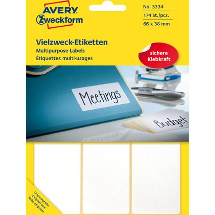 AVERY Zweckform Vielzweck-Etiketten, 66 x 38 mm, weiß, FP