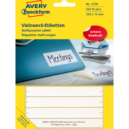 AVERY Zweckform Vielzweck-Etiketten, 105 x 13 mm, weiß, FP